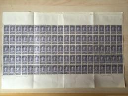 Congo belge - 136 - 10c - Stanley - En feuille de 100 - 1928 - MNH