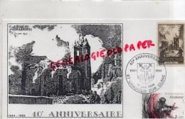 87 - ORADOUR SUR GLANE - 40E ANNIVERSAIRE DE LA LIBERATION- 1984- ENVELOPPE RESISTANCE - FDC