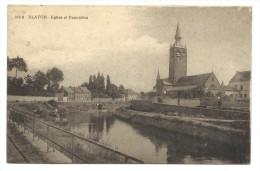 CPA - BLATON - Eglise Et Panorama  // - Bernissart
