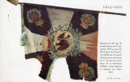 CPA 1334 - MILITARIA - Carte Militaire - Croix - Rouge - Drapeau Du Rgt De LANDWEHR Pris Au Bois De SAINT - MARD - Croix-Rouge