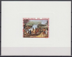 Congo ScC79 Painting, Jacques Augustin Pajou, Battle Of Marengo, Peinture, Deluxe Proof, Epreuve - Arte