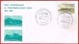30e Anniversaire De L'Électrification Du Nord 16.2.1985 Douai - Postmark Collection (Covers)