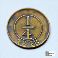 República Dominicana - 1/4 Real - 1848 - Dominicaine
