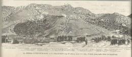 Guerra Civil, Espana 1874, Montellano Il Combattimento Del 30 Aprile Alle 6 Di Sera, Litografia Cm. 32 X 12. - Documentos Históricos