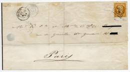 1854 - N° 9 (TB) Sur LETTRE D'ORLEANS (LOIRET) - SIGNATURE CALVES - Marcophilie (Lettres)