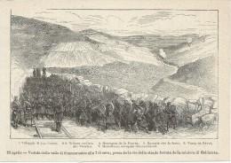 Espana, Las Cortes 28.4.1874, Guerra Civil, Veduta Della Valle Di Sommorostro, Litografia Cm. 17,5 X 12,5. - Documentos Históricos
