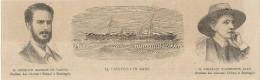 Espana 1874, Usa, Cuba, Ten Years War, Ship Virginius, Generali De Varona Y Washington Ryan, Litografia Cm. 24,5 X 7,5. - Documentos Históricos