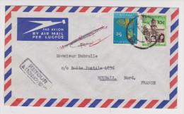 AFRIQUE DU SUD ENVELOPPE RETOUR A L'ENVOYEUR CACHET ROUBAIX 19 FÉVRIER 1962 MASUREL PORT ÉLIZABETH - Afrique Du Sud (1961-...)