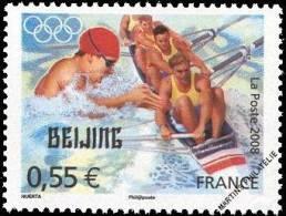YT4224 Année:2008 Jeux Olympiques D´été à Pékin (Chine) En 2008 : Natation Et Aviron - Francia