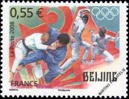 YT4225 Année:2008 Jeux Olympiques D´été à Pékin (Chine) En 2008 : Judo Et Escrime - Francia
