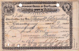 INDEPENDENT ORDER OF ODD FELLOW  1927 (DIL199) - Historical Documents