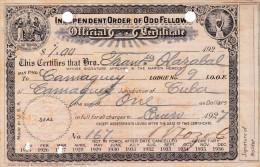INDEPENDENT ORDER OF ODD FELLOW  1927 (DIL199) - Historische Documenten