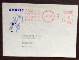 PALLACANESTRO - LETTERA PUBBLICITARIA DI CONFEZIONI SPORTIVE A MAROMME - 1963 - Atletica