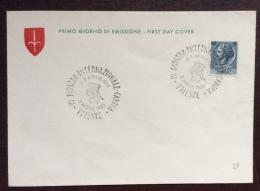 TRIESTE 1955 - IV MOSTRA INTERNAZIONALE CANINA - ANNULLO SPECIALE SU BUSTA - Cartes Postales