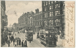 Portsmouth Commercial Road I 1510. 9. Tram  P. Used 1903 To Riva Bella Calvados France - Portsmouth