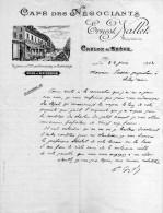 Café Des Négociants Chalon-sur-Saone Courrier à Monsieur Sassier -Ernest Nallet - France