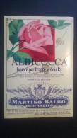Etichetta - Albicocca, Liquore Per Frappè E Drinks (Martino Balbo) - Etichette