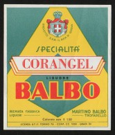 Etichetta - Corangel Balbo Liquore, Martino Balbo - Etichette