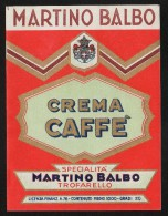 Etichetta - Crema Caffè, Martino Balbo - Etichette