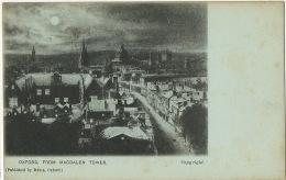 Oxford  Edit Davis  From Magdalen Tower Bleu A La Lune - Oxford