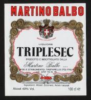 Etichetta - Triplesec Liquore, Martino Balbo - Etichette
