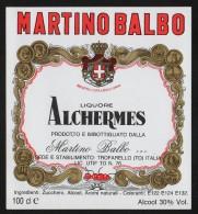 Etichetta - Alchermes Liquore - Martino Balbo - Etichette