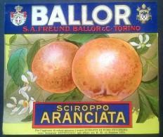 Etichetta - Sciroppo Aranciata - BALLOR  Torino - Etichette