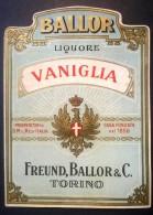 Etichetta - Vaniglia Liquore - FREUND, BALLOR & C. Torino - Etichette