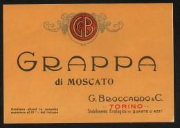 Etichetta - Grappa Di Moscato - G. Broccardo & C. - Etichette