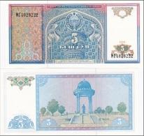 Uzbekistan - 5 Sum 1994 UNC Ukr-OP - Uzbekistan