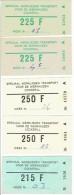 Lot de 5 billets hebdomadaire LIEGE-CHERTAL - Tickets r�serv�s aux travailleurs de la S.A. COCKERILL