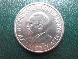 KENYA 1969  FIFTY CENTS   KENYATTA Copper-Nickel  USED COIN In EXCELLENT CONDITION. - Kenya