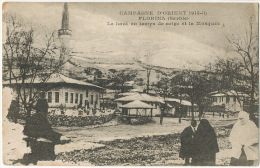 Serbie Macedoine Florina Campagne Orient Guerre 1014 Temps De Neige Et Mosquée - Serbie