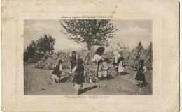 Serbie Femmes Serbes Battant Le Mais Guerre 1914 WWI - Serbie