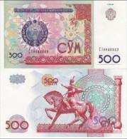 Uzbekistan - 500 Sum 1999 UNC Ukr-OP - Uzbekistan
