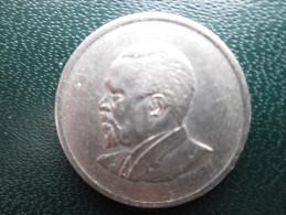 KENYA 1967  FIFTY CENTS   KENYATTA Copper-Nickel  USED COIN In Very Good CONDITION. - Kenya