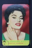 1961 Small/ Pocket Calendar - Sofia Loren Actress - Tamaño Pequeño : 1961-70