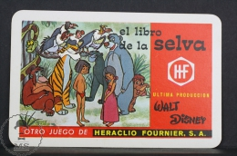 1969 Small/ Pocket Calendar - Walt Disney The Jungle Book  - Edited By Heraclio Fournier Spain - Tamaño Pequeño : 1961-70