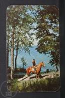 1957 Small/ Pocket Calendar - Manitoba, Canada - Girl On Horse - Tamaño Pequeño : 1941-60