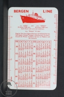 1956 Small/ Pocket Calendar - Bergen Line - Norway & Holland - M.S. Meteor Cruises - Calendriers
