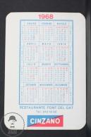 1960 Small/ Pocket Calendar - CInzano Advertising - Font Del Gat Catalonia - Calendarios