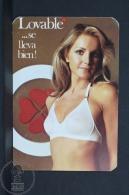1974 Small/ Pocket Calendar - Spanish Lovable Lingerie Advertising - Sexy Blonde Girl In Lingerie - Calendarios