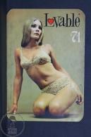 1971 Small/ Pocket Calendar - Spanish Lovable Lingerie Advertising - Sexy Blonde Girl In Lingerie - Calendarios