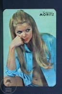 1971 Small/ Pocket Calendar - Spanish Moritz Beer Advertising - Retro Sexy Blonde Girl - Calendarios