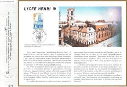 Sur Feuillet CEF , FDC Paris .  LE LYCEE HENRI IV . ...Pour Bien Comprendre L'architecture Du Lyvée Henri IV ...L'abbaye - Architecture