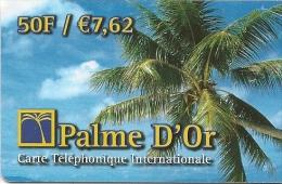CARTE-PREPAYEE-PALME D OR-50F-7.5€-PALMIER-31/12/2002-T BE- - Autres Prépayées