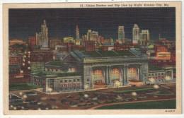 Union Station And Sky Line By Night, Kansas City, Mo. - Kansas City – Missouri