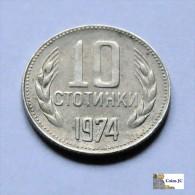Bulgaria - 10 Stotinki - 1974 - Bulgaria