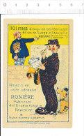 Chromo Publicitaire Boisson Ronière ( 110 Litres Avec 4 Kilos De Sucre ) / Facteur De La Poste En Tournée   // IM 166/1 - Kaufmanns- Und Zigarettenbilder