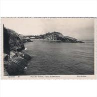ASTRATP2692-LFT2517 .Tarjeta Postal DE ASTURIAS.Mar,rocas.PLAYA DEL SABLON Y PASEO DE SAN PEDRO.LLANES - Asturias (Oviedo)